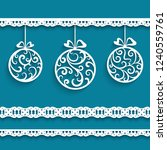 ornamental christmas decoration ... | Shutterstock .eps vector #1240559761