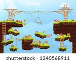 video game. elements and... | Shutterstock .eps vector #1240568911