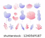 simple colorful  leaves  trees... | Shutterstock .eps vector #1240569187