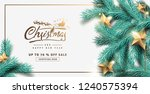 vector merry christmas and... | Shutterstock .eps vector #1240575394