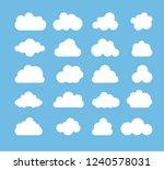 cloud silhouettes set. cloud... | Shutterstock .eps vector #1240578031