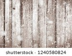 grunge wood planks with snow... | Shutterstock . vector #1240580824