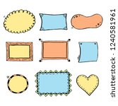 hand drawn set of simple frame... | Shutterstock .eps vector #1240581961