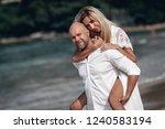 attractive trendy young couple...   Shutterstock . vector #1240583194