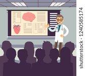 medical conference vector... | Shutterstock .eps vector #1240585174