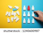 business disorder and chaos.... | Shutterstock . vector #1240600987
