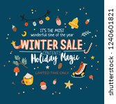 winter sale posters and banners.... | Shutterstock .eps vector #1240601821