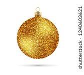 shiny glitter christmas ball | Shutterstock .eps vector #1240603621