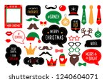 christmas photo booth props.... | Shutterstock . vector #1240604071