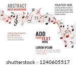 color music notes on a solide... | Shutterstock .eps vector #1240605517
