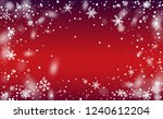 winter snowfall background.... | Shutterstock .eps vector #1240612204