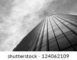 Office Building On A Cloudy Da...