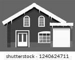 monochrome winter western style ... | Shutterstock .eps vector #1240624711