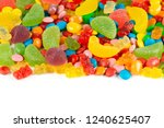 mixed colorful candies. color... | Shutterstock . vector #1240625407