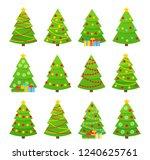 christmas tree. vector. tree... | Shutterstock .eps vector #1240625761