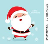 christmas greeting card with... | Shutterstock .eps vector #1240640131