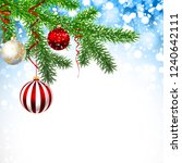 christmas greeting card with... | Shutterstock .eps vector #1240642111