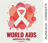 world aids day card or... | Shutterstock .eps vector #1240642474