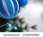 christmas tree and blue balls... | Shutterstock . vector #1240644481