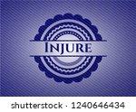injure emblem with denim high... | Shutterstock .eps vector #1240646434