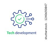 technology development ... | Shutterstock .eps vector #1240650847