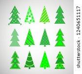 vector christmas winter trees | Shutterstock .eps vector #1240651117