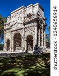 the triumphal arch of orange in ... | Shutterstock . vector #1240658914