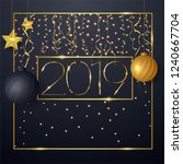 2019 happy new year background...   Shutterstock .eps vector #1240667704