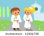 First Holy Communion 2   Vector.