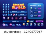 big set buttons for games and... | Shutterstock .eps vector #1240677067