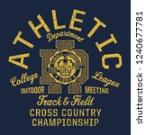 college track and field... | Shutterstock .eps vector #1240677781