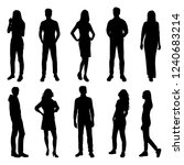 set of vector silhouettes of ... | Shutterstock .eps vector #1240683214