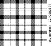 black and white tartan plaid...   Shutterstock .eps vector #1240683574
