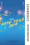 2019 happy new year background...   Shutterstock .eps vector #1240684651