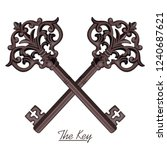 ornamental medieval vintage... | Shutterstock .eps vector #1240687621
