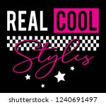real cool style for t shirt... | Shutterstock .eps vector #1240691497