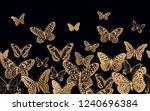 black background flying... | Shutterstock .eps vector #1240696384