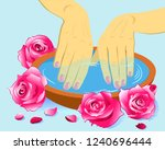 manicure  hand care. woman s...   Shutterstock .eps vector #1240696444