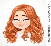 beautiful kisses cartoon... | Shutterstock .eps vector #1240697017