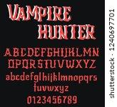 vampire hunter   vintage gothic ...   Shutterstock .eps vector #1240697701