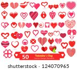 valentine's day vector design...   Shutterstock .eps vector #124070965