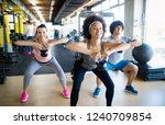 group of young people training... | Shutterstock . vector #1240709854
