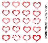 set of symbol hearts valentine...   Shutterstock .eps vector #124071004