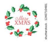 christmas mistletoe holiday... | Shutterstock .eps vector #1240710481