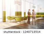 businessmen in corner of modern ... | Shutterstock . vector #1240713514