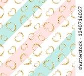 gold heart seamless pattern....   Shutterstock . vector #1240716037