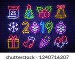 christmas icon set. merry... | Shutterstock .eps vector #1240716307