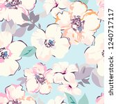 watercolour flowers vector.... | Shutterstock .eps vector #1240717117