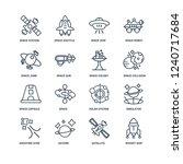 rocket ship  satellite  saturn  ... | Shutterstock .eps vector #1240717684