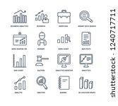 3d location graph  agenda ... | Shutterstock .eps vector #1240717711